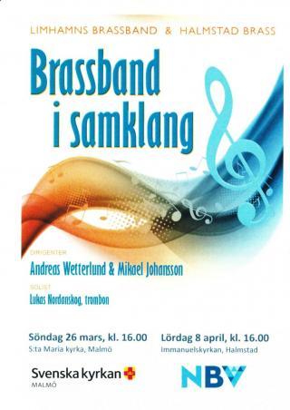 Brassband i samklang i S:ta Maria Kyrka