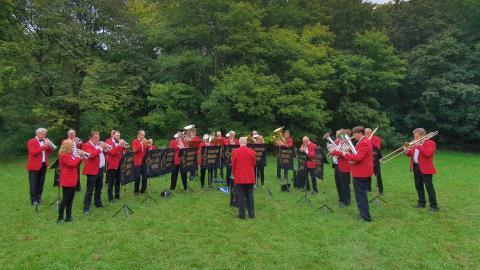 Limhamns Brassband i Hammars Park 2021-09-11
