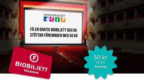 Få en biobiljett när du sponsrar Limhamns Brassband via Sponsorhuset
