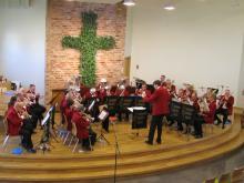 Limhamns Brassband i Brunnsparkskyrkan 2012-03-25